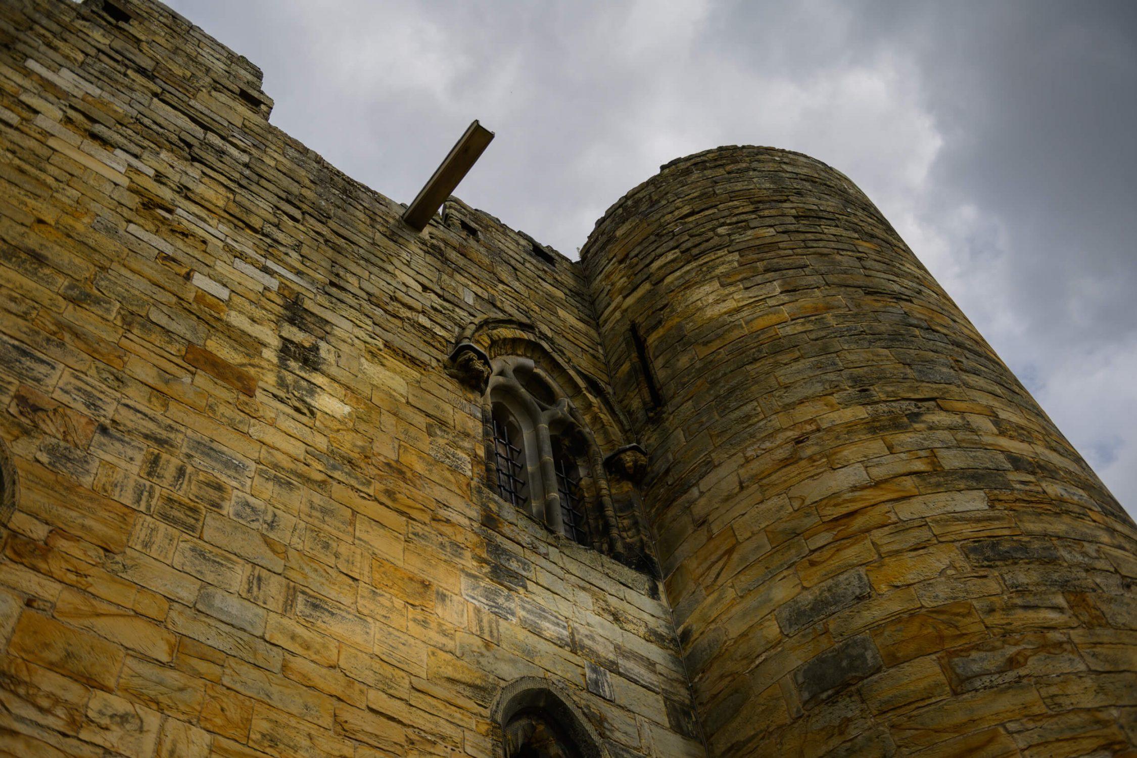Castle ruins in Tonbridge, Kent